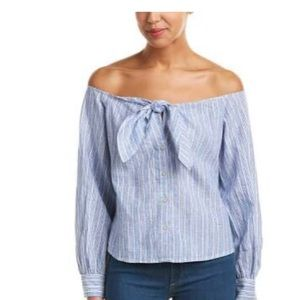 Free People Hello There Beautiful Linen-Blend Top